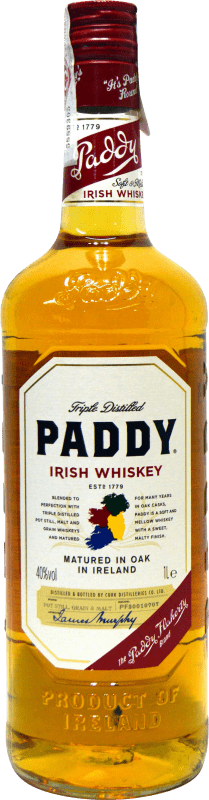 17,95 € Envío gratis | Whisky Blended Paddy Irlanda Botella Misil 1 L