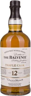 78,95 € Free Shipping | Whisky Single Malt Balvenie Triple Cask 12 Años United Kingdom Missile Bottle 1 L