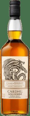 63,95 € Free Shipping | Whisky Single Malt Cardhu Gold Reserve House Targaryen Game of Thrones Reserva United Kingdom Bottle 70 cl
