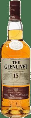 66,95 € Free Shipping | Whisky Single Malt Glenlivet 15 Años United Kingdom Missile Bottle 1 L