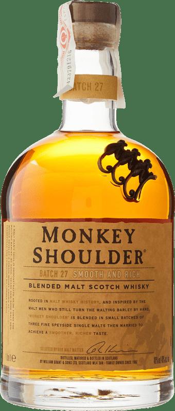 28,95 € Envoi gratuit   Whisky Single Malt Monkey Shoulder Royaume-Uni Bouteille Missile 1 L