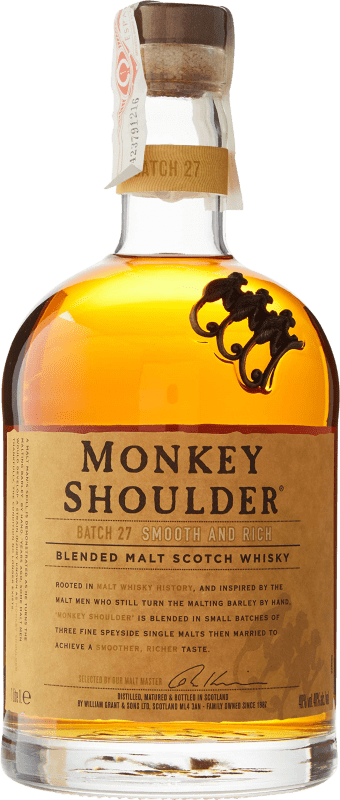 28,95 € Free Shipping | Whisky Single Malt Monkey Shoulder United Kingdom Missile Bottle 1 L