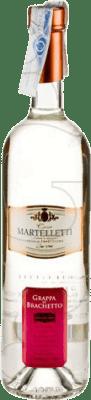 22,95 € Free Shipping | Grappa Martelletti Brachetto Italy Bottle 70 cl
