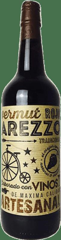 5,95 € Envío gratis | Vermut Arezzo Rojo España Botella Misil 1 L