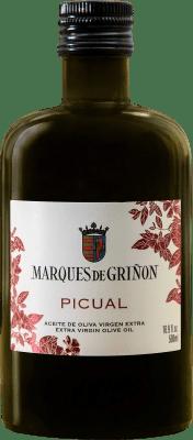 6,95 € Envío gratis | Aceite Marqués de Griñón Picual España Picual Media Botella 50 cl