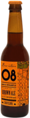 2,95 € Envío gratis   Cerveza Birra Artesana 08 Eixample Brown Ale España Botellín Tercio 33 cl