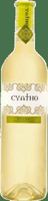 6,95 € Envio grátis | Vinho branco Cyatho D.O. Rueda Espanha Verdejo Garrafa 75 cl | Milhares de amantes do vinho confiam em nós com a garantia do melhor preço, envio sempre grátis e compras e devoluções sem complicações.