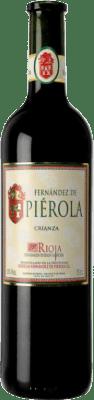 9,95 € 送料無料 | 赤ワイン Piérola Crianza D.O.Ca. Rioja スペイン Tempranillo ボトル 75 cl | 何千ものワイン愛好家が最高の価格を保証し、常に無料で出荷し、購入して合併症を起こすことなく返品します.