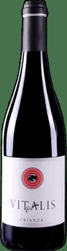6,95 € Free Shipping | Red wine Vitalis Crianza D.O. Tierra de León Spain Prieto Picudo Bottle 75 cl