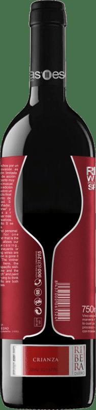 16,95 € Envío gratis | Vino tinto Esencias «S8» 8 Meses Crianza D.O. Ribera del Duero Castilla y León España Tempranillo Botella 75 cl