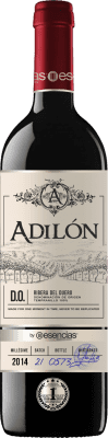 49,95 € Free Shipping | Red wine Esencias Adilón Selección Especial 18 Meses Reserva D.O. Ribera del Duero Castilla y León Spain Tempranillo Bottle 75 cl