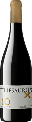 13,95 € Free Shipping | Red wine Thesaurus X 10 Meses Crianza D.O. Ribera del Duero Castilla y León Spain Tempranillo Bottle 75 cl