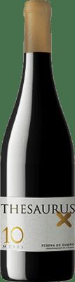 13,95 € Spedizione Gratuita | Vino rosso Thesaurus X 10 Meses Crianza D.O. Ribera del Duero Castilla y León Spagna Tempranillo Bottiglia 75 cl