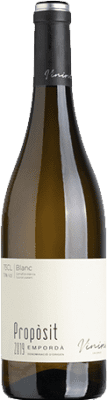 9,95 € Free Shipping | White wine Viníric Propòsit Blanc D.O. Empordà Catalonia Spain Grenache White, Muscatel, Macabeo Bottle 75 cl
