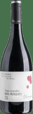 12,95 € Free Shipping | Red wine Viníric Finques Incansables Mas Rusques Negre Crianza D.O. Empordà Catalonia Spain Carignan Bottle 75 cl