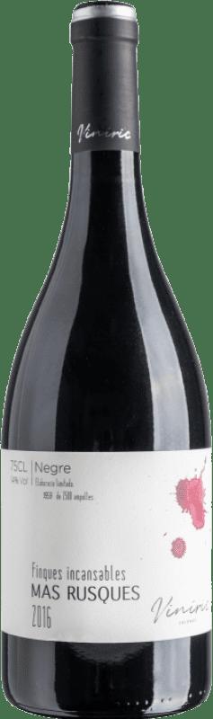 12,95 € Envoi gratuit | Vin rouge Viníric Finques Incansables Mas Rusques Negre Crianza D.O. Empordà Catalogne Espagne Carignan Bouteille 75 cl
