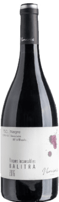 12,95 € Free Shipping | Red wine Viníric Finques Incansables Balitrà Negre Crianza D.O. Empordà Catalonia Spain Grenache Bottle 75 cl