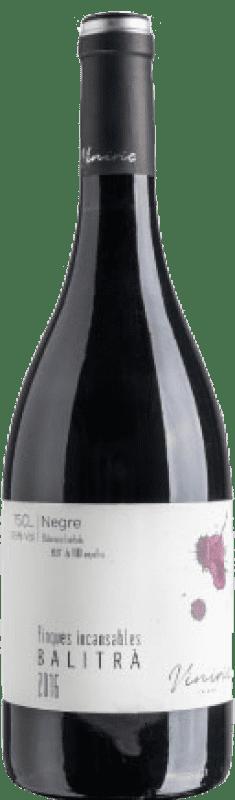 12,95 € Envío gratis | Vino tinto Viníric Finques Incansables Balitrà Negre Crianza D.O. Empordà Cataluña España Garnacha Botella 75 cl