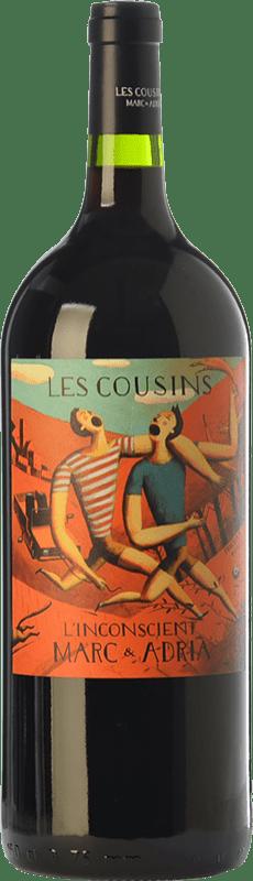 25,95 € Envío gratis | Vino tinto Les Cousins L'Inconscient Crianza D.O.Ca. Priorat Cataluña España Merlot, Syrah, Garnacha, Cabernet Sauvignon, Cariñena Botella Mágnum 1,5 L