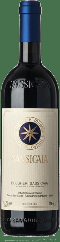 449,95 € Free Shipping | Red wine San Guido Sassicaia D.O.C. Bolgheri Tuscany Italy Cabernet Sauvignon, Cabernet Franc Bottle 75 cl