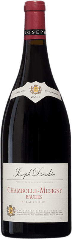 219,95 € Free Shipping | Red wine Drouhin 1er Cru Baudes A.O.C. Chambolle-Musigny Burgundy France Pinot Black Magnum Bottle 1,5 L