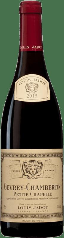113,95 € Free Shipping | Red wine Louis Jadot 1er Cru Petite Chapelle A.O.C. Gevrey-Chambertin Burgundy France Pinot Black Bottle 75 cl