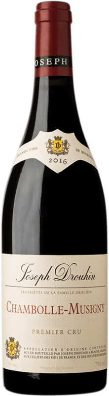 98,95 € Free Shipping | Red wine Drouhin 1er Cru A.O.C. Chambolle-Musigny Burgundy France Pinot Black Bottle 75 cl