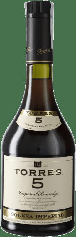 9,95 € Envío gratis | Brandy Torres 5 D.O. Penedès Cataluña España Botella 70 cl