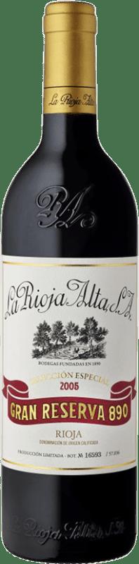 109,95 € Envío gratis | Vino tinto Rioja Alta 890 Selección Especial Gran Reserva 2005 D.O.Ca. Rioja España Tempranillo Botella 75 cl
