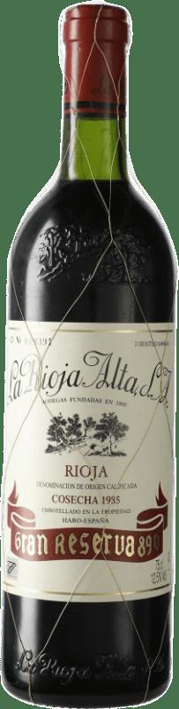 152,95 € Envío gratis | Vino tinto Rioja Alta 890 Selección Especial Gran Reserva 1985 D.O.Ca. Rioja España Tempranillo Botella 75 cl