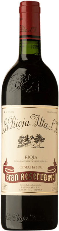 178,95 € Free Shipping | Red wine Rioja Alta 890 Gran Reserva 1989 D.O.Ca. Rioja Spain Tempranillo Bottle 75 cl