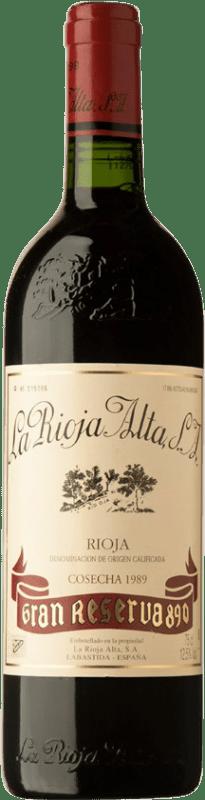 152,95 € Envío gratis | Vino tinto Rioja Alta 890 Gran Reserva 1989 D.O.Ca. Rioja España Tempranillo Botella 75 cl