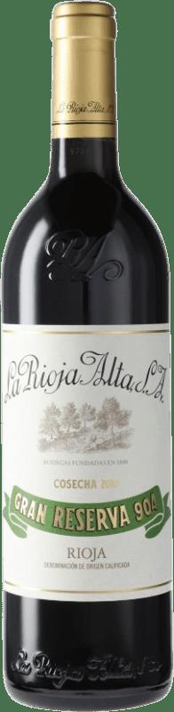 43,95 € Envío gratis | Vino tinto Rioja Alta 904 Gran Reserva D.O.Ca. Rioja España Tempranillo Botella 75 cl