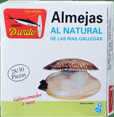 76,95 € Free Shipping | Conservas de Marisco Dardo Almeja al Natural Reserva Spain 25/30 Pieces