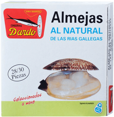 56,95 € Kostenloser Versand | Conservas de Marisco Dardo Almeja al Natural Reserva Spanien 25/30 Stücke