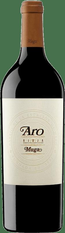 162,95 € Envío gratis | Vino tinto Muga Aro D.O.Ca. Rioja España Tempranillo, Graciano Botella 75 cl