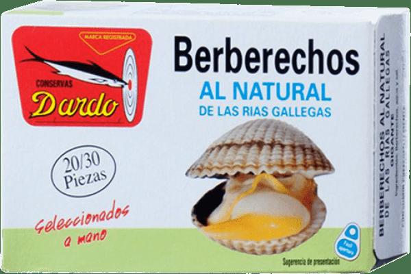 17,95 € Kostenloser Versand | Conservas de Marisco Dardo Berberechos al Natural Spanien 20/30 Stücke