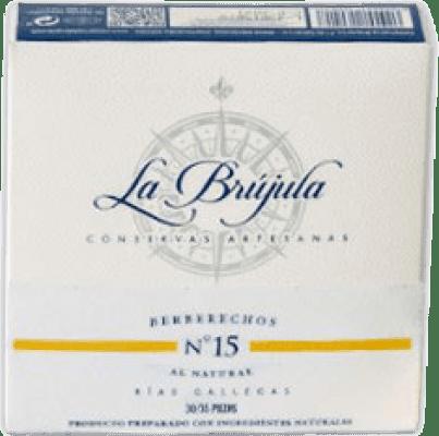 15,95 € Kostenloser Versand | Conservas de Marisco La Brújula Berberechos al Natural Spanien 30/35 Stücke
