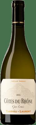 19,95 € Free Shipping | White wine Tardieu-Laurent Blanc Guy Louis A.O.C. Côtes du Rhône France Grenache, Viognier, Marsanne, Clairette Blanche Bottle 75 cl