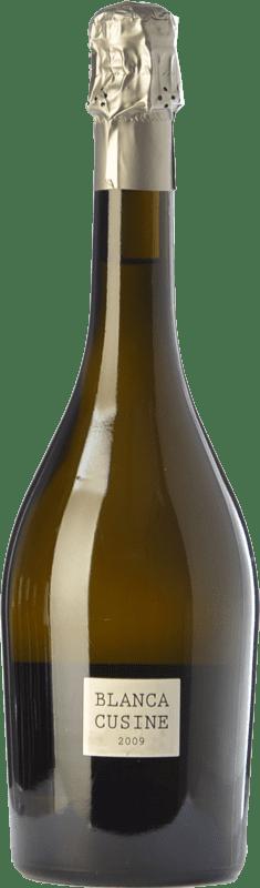 17,95 € Envío gratis | Espumoso blanco Parés Baltà Blanca Cusiné Brut Nature D.O. Cava España Pinot Negro, Xarel·lo, Chardonnay Botella 75 cl
