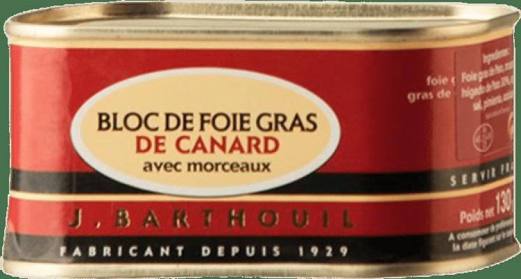 13,95 € Envío gratis | Foie y Patés J. Barthouil Bloc de Foie Gras de Canard avec Morceaux Francia