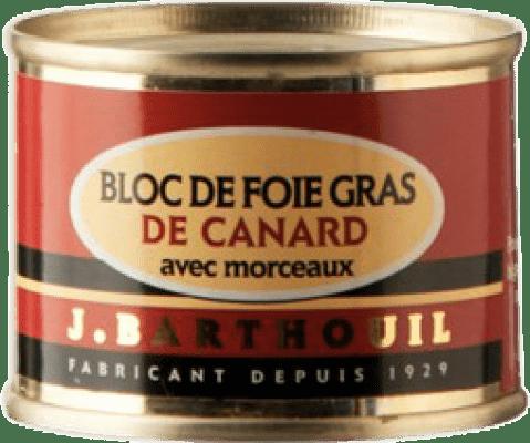 8,95 € Envío gratis | Foie y Patés J. Barthouil Bloc de Foie Gras de Canard avec Morceaux Francia
