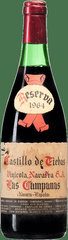 61,95 € Envío gratis | Vino tinto Vinícola Navarra Campanas Reserva 1964 D.O. Navarra Navarra España Tempranillo, Cabernet Sauvignon Botella 75 cl
