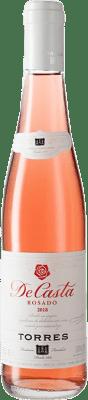 3,95 € Envío gratis | Vino rosado Torres Casta Rosat D.O. Penedès Cataluña España Garnacha, Cariñena Media Botella 37 cl