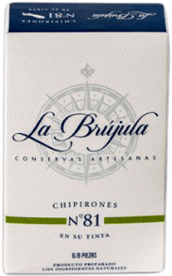 13,95 € Free Shipping | Conservas de Marisco La Brújula Chipirones en su Tinta Spain 6/8 Pieces