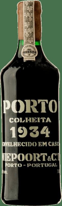 1 191,95 € Envío gratis | Vino tinto Niepoort Colheita 1934 I.G. Porto Porto Portugal Touriga Franca, Touriga Nacional, Tinta Roriz Botella 75 cl
