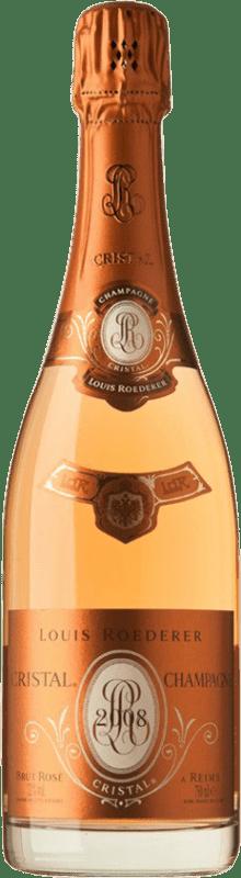 559,95 € Free Shipping | Rosé sparkling Louis Roederer Cristal Rosé Brut 2008 A.O.C. Champagne Champagne France Pinot Black, Chardonnay Bottle 75 cl