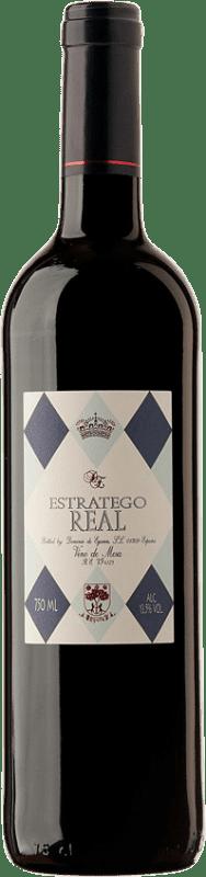 3,95 € Envío gratis | Vino tinto Dominio de Eguren Estratego Real Negre España Tempranillo Botella 75 cl