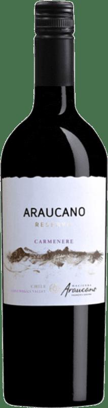 13,95 € Envío gratis | Vino tinto Piedra Negra François Lurton Araucano I.G. Valle de Colchagua Valle de Colchagua Chile Carmenère Botella 75 cl