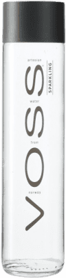 2,95 € Envío gratis | Agua VOSS Water Gas Sparkling Noruega Media Botella 37 cl
